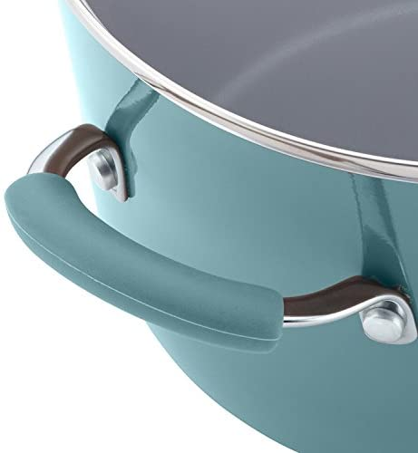 41L8TGrq8HL. AC  - Rachael Ray Cucina Nonstick Cookware Pots and Pans Set, 12 Piece, Agave Blue