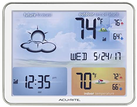 41LzkPOezjL. AC  - AcuRite 02081M Weather Station with Jumbo Display and Atomic Clock