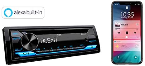 41QIBI8xeUL. AC  - JVC Single-Din Built-in Bluetooth, Dual Phone Connection, Android Music Playback, CD MP3 AM/FM USB AUX Input Car Stereo Player, Pandora Spotify Control iHeart Radio Receiver w/FREE ALPHASONIK EARBUDS