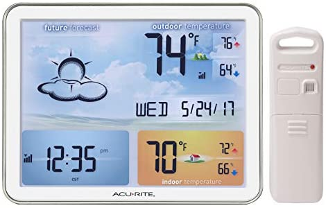 41WZjZaSFgL. AC  - AcuRite 02081M Weather Station with Jumbo Display and Atomic Clock