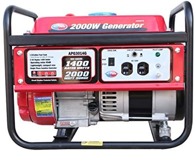 41Zr0dXmOQL. AC  - All Power America APG3014G 2000 Watt Portable Generator, Gas Powered for Home Back Up, Hurricane Recovery, Black/Red