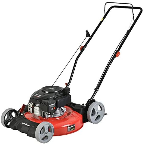 41abLLHhVWL. AC  - PowerSmart Lawn Mower, 21-inch & 170CC, Gas Powered Push Lawn Mower with 4-Stroke Engine, 2-in-1 Gas Mower in Color Red/Black, 5 Adjustable Heights (1.18''-3.0''), DB2321CR