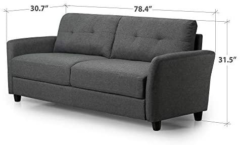 41ddRTI+tEL. AC  - Zinus Ricardo, Sofa, Dark Grey