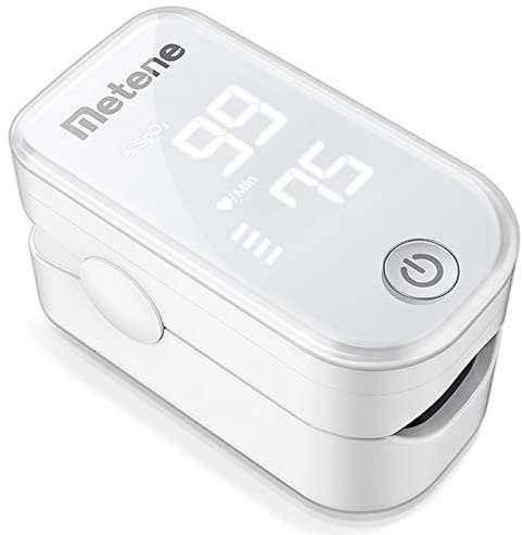 41escd9N8HL. AC  - Pulse Oximeter Fingertip, Blood Oxygen Saturation Monitor with Pulse Rate and Accurate Fast Spo2 Reading Oxygen Meter, Portable Oximeter with Lanyard and Batteries (White)