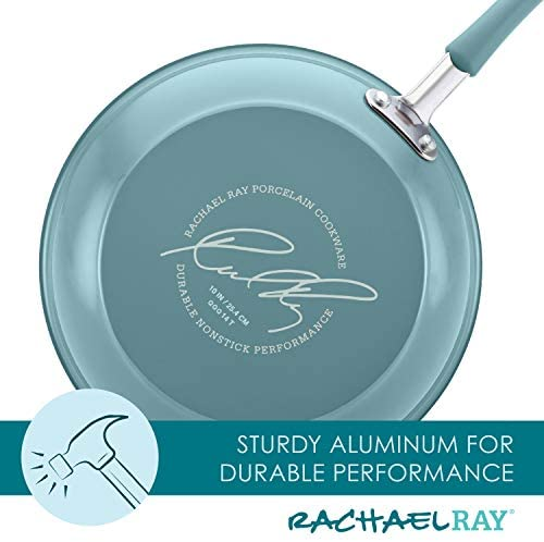 41go+SM4WtL. AC  - Rachael Ray Cucina Nonstick Cookware Pots and Pans Set, 12 Piece, Agave Blue