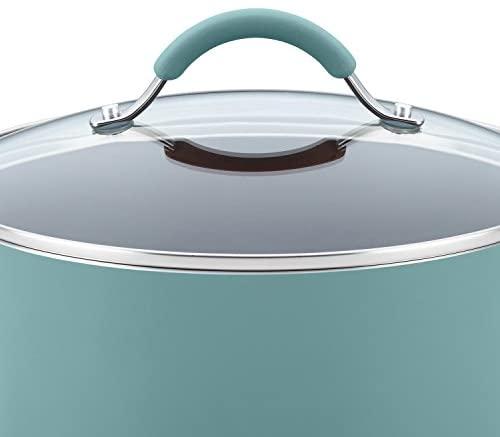 41itIdz9ZnL. AC  - Rachael Ray Cucina Nonstick Cookware Pots and Pans Set, 12 Piece, Agave Blue