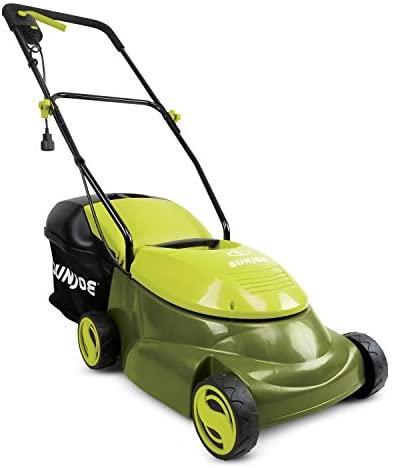 41mvrchQP4L. AC  - Sun Joe MJ401E 14-Inch 12 Amp Electric Lawn Mower with Grass Bag, Green