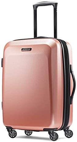 41n4D+ULF9L. AC  - American Tourister Moonlight Hardside Expandable Luggage with Spinner Wheels, Rose Gold, Carry-On 21-Inch