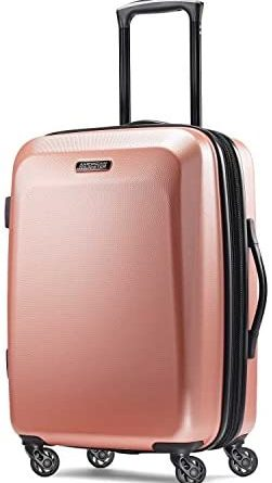 41n4DULF9L. AC  251x445 - American Tourister Moonlight Hardside Expandable Luggage with Spinner Wheels, Rose Gold, Carry-On 21-Inch