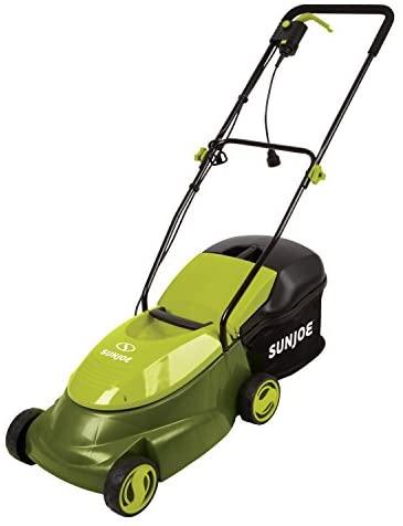 41nEMRH8mcL. AC  - Sun Joe MJ401E 14-Inch 12 Amp Electric Lawn Mower with Grass Bag, Green