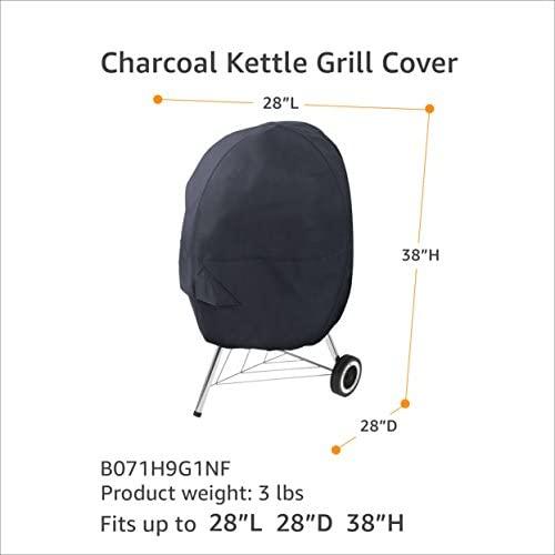41o6nA39HaL. AC  - AmazonBasics Charcoal Kettle Grill Barbecue Cover, Black