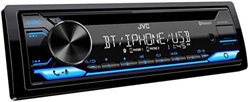 41rJhMhdz1L. AC  - JVC Single-Din Built-in Bluetooth, Dual Phone Connection, Android Music Playback, CD MP3 AM/FM USB AUX Input Car Stereo Player, Pandora Spotify Control iHeart Radio Receiver w/FREE ALPHASONIK EARBUDS