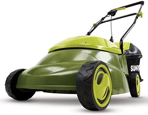 41vAiKX uFL. AC  - Sun Joe MJ401E 14-Inch 12 Amp Electric Lawn Mower with Grass Bag, Green