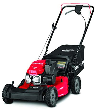 41xJY73amCL. AC  - Craftsman 12AVU2V2791 149cc Engine Front Wheel Drive Self Propelled Lawn Mower, Red and Black