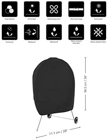 41zgm3lnoIL. AC  - AmazonBasics Charcoal Kettle Grill Barbecue Cover, Black
