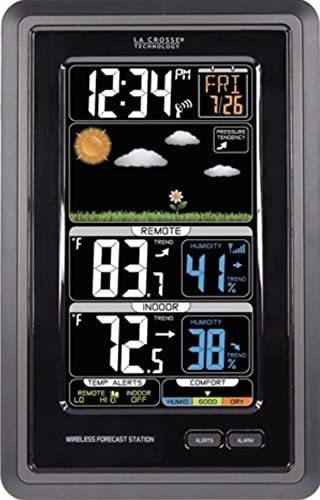 51+bIoQpTzL. AC  - La Crosse Technology S88907 Vertical Wireless Color Forecast Station with Temperature Alerts