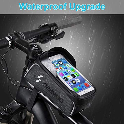 5163B2JxDFL. AC  - Bike Phone Front Frame Bag - Waterproof Bicycle Top Tube Cycling Phone Mount Pack Phone Case for 6.5'' iPhone Plus xs max