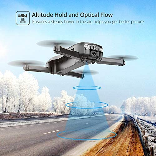 516uOlQ+4QL. AC  - Holy Stone HS160 Pro Foldable Drone with 1080p HD WiFi Camera for Adults and Kids, Wide Angle FPV Live Video, App Control, Gesture Selfie, Waypoints, Optical Flow, Altitude Hold and 2 Batteries