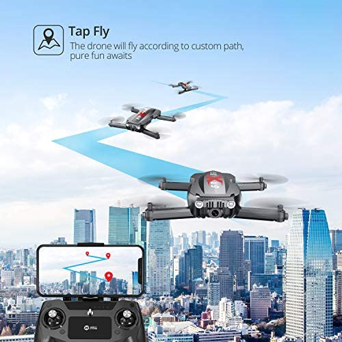 517A9FiR+pL. AC  - Holy Stone HS160 Pro Foldable Drone with 1080p HD WiFi Camera for Adults and Kids, Wide Angle FPV Live Video, App Control, Gesture Selfie, Waypoints, Optical Flow, Altitude Hold and 2 Batteries