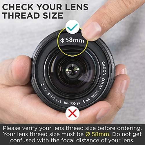 5181 Ph0wcL. AC  - 58MM 0.43x Altura Photo Professional HD Wide Angle Lens (w/Macro Portion) for Canon EOS 70D 77D 80D Rebel T7 T7i T6i T6s T6 SL2 SL3 DSLR Cameras