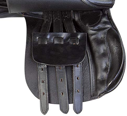 51AfO+DaDVL. AC  - All Purpose Black Leather English Riding Horse Saddle Starter Kit
