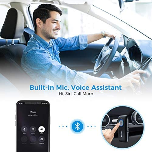 51EqBg2BJCL. AC  - Mpow BH298A Bluetooth Receiver, Aux Wireless Bluetooth with Bluetooth 5.0 for Wired Speakers/Headphones/Home Music Streaming Stereo System, Protable Bluetooth Car Adapter, Easy Control On/Off Slider