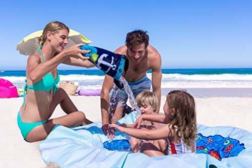 51JipOh2FeL. AC  - EverEarth E Lite Waterproof Beach Blanket & Kiddie Pool, Blue