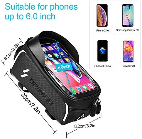 51M2+RwGo5L. AC  - Bike Phone Front Frame Bag - Waterproof Bicycle Top Tube Cycling Phone Mount Pack Phone Case for 6.5'' iPhone Plus xs max