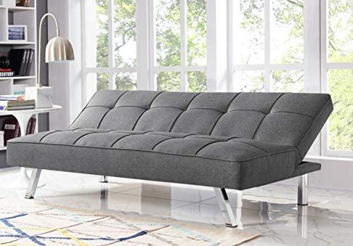 51MPdZCYY6L. AC  - Serta RNE-3S-CC-SET Rane Collection Convertible Sofa, L66.1 x W33.1 x H29.5, Charcoal