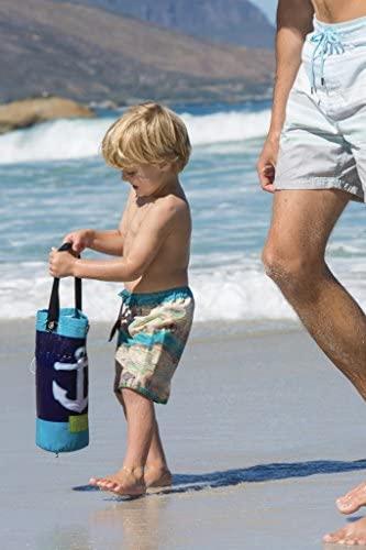 51MrZErvCVL. AC  - EverEarth E Lite Waterproof Beach Blanket & Kiddie Pool, Blue