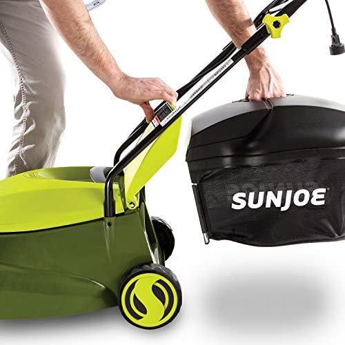 51Q1 pgF5iL. AC  - Sun Joe MJ401E 14-Inch 12 Amp Electric Lawn Mower with Grass Bag, Green