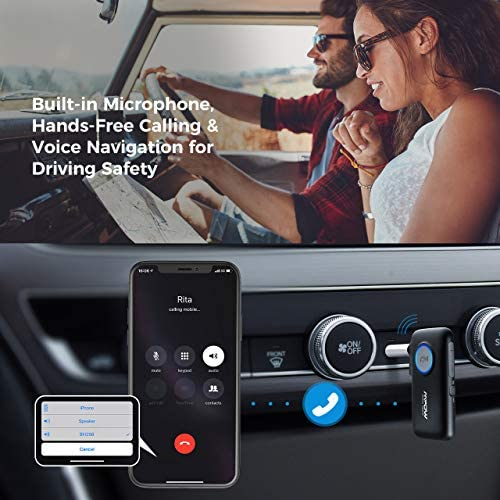 51Qyg4bXPPL. AC  - Mpow BH298A Bluetooth Receiver, Aux Wireless Bluetooth with Bluetooth 5.0 for Wired Speakers/Headphones/Home Music Streaming Stereo System, Protable Bluetooth Car Adapter, Easy Control On/Off Slider