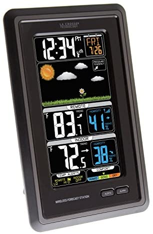 51Rz Bi7dxL. AC  - La Crosse Technology S88907 Vertical Wireless Color Forecast Station with Temperature Alerts