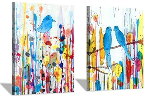 51TDsoVkiuL. AC  - Modern Abstract Wall Art Painting: Watercolor Canvas Artwork for Bedroom