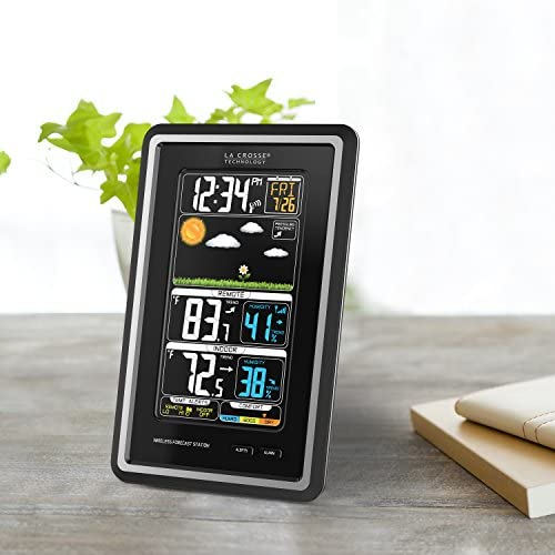51VIi2s+F L. AC  - La Crosse Technology S88907 Vertical Wireless Color Forecast Station with Temperature Alerts