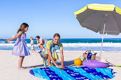 51Z Ffn4UDL. AC  - EverEarth E Lite Waterproof Beach Blanket & Kiddie Pool, Blue