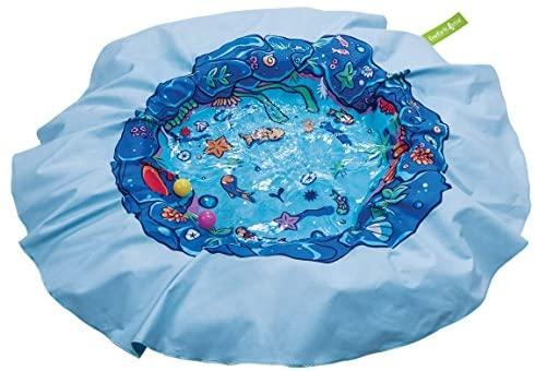 51Zl1hCKJLL. AC  - EverEarth E Lite Waterproof Beach Blanket & Kiddie Pool, Blue