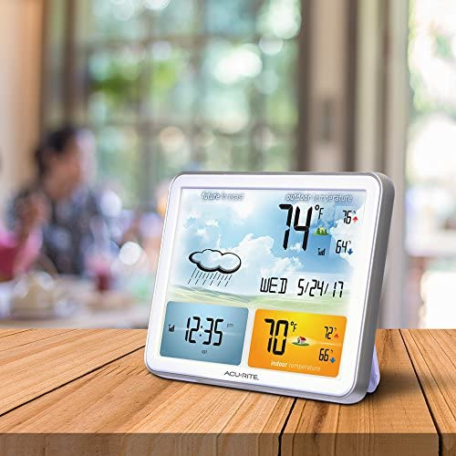 51a9VoLc5WL. AC  - AcuRite 02081M Weather Station with Jumbo Display and Atomic Clock