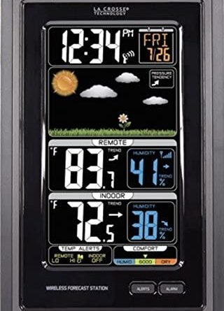 51bIoQpTzL. AC  320x445 - La Crosse Technology S88907 Vertical Wireless Color Forecast Station with Temperature Alerts