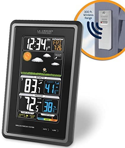 51cCflML PL. AC  - La Crosse Technology S88907 Vertical Wireless Color Forecast Station with Temperature Alerts