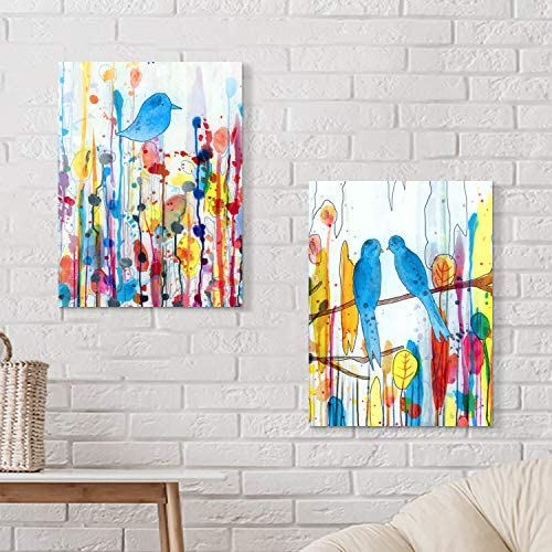 51dWCwMIzFL. AC  - Modern Abstract Wall Art Painting: Watercolor Canvas Artwork for Bedroom