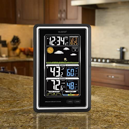 51ddsmGGJVL. AC  - La Crosse Technology S88907 Vertical Wireless Color Forecast Station with Temperature Alerts