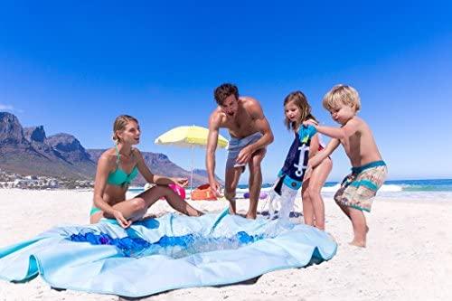 51fAuGgi78L. AC  - EverEarth E Lite Waterproof Beach Blanket & Kiddie Pool, Blue