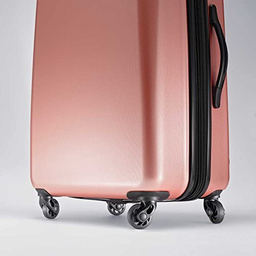 51flSDynDlL. AC  - American Tourister Moonlight Hardside Expandable Luggage with Spinner Wheels, Rose Gold, Carry-On 21-Inch