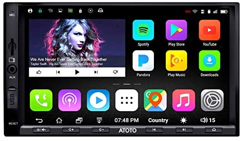 51i+4FXEPgL. AC  - ATOTO A6 Double Din Android Car Navigation Stereo with Dual Bluetooth - Standard A6Y2710SB 1G/16G Car Entertainment Multimedia Radio,WiFi/BT Tethering Internet,Support 256G SD &More