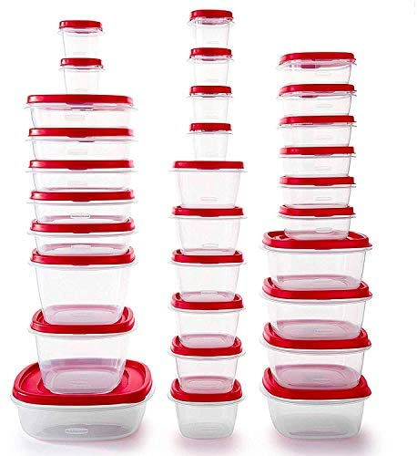51lPGPGtdoL. AC  - Rubbermaid Easy Find Vented Lids Food Storage Containers, Set of 30 (60 Pieces Total), Racer Red