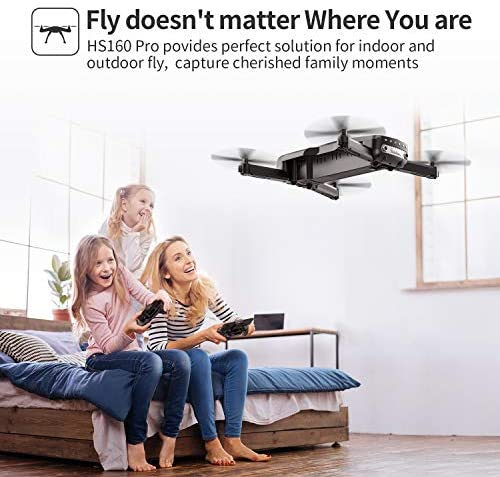 51ltxOvtpXL. AC  - Holy Stone HS160 Pro Foldable Drone with 1080p HD WiFi Camera for Adults and Kids, Wide Angle FPV Live Video, App Control, Gesture Selfie, Waypoints, Optical Flow, Altitude Hold and 2 Batteries