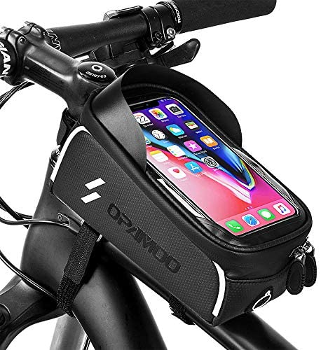 51qHNQyrs9L. AC  - Bike Phone Front Frame Bag - Waterproof Bicycle Top Tube Cycling Phone Mount Pack Phone Case for 6.5'' iPhone Plus xs max