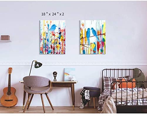 51r52byRycL. AC  - Modern Abstract Wall Art Painting: Watercolor Canvas Artwork for Bedroom