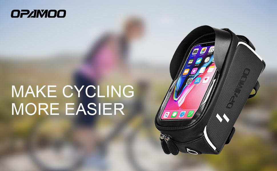 7b838fbb a18a 4dbe ab0e 4648cbda9589.  CR0,0,970,600 PT0 SX970 V1    - Bike Phone Front Frame Bag - Waterproof Bicycle Top Tube Cycling Phone Mount Pack Phone Case for 6.5'' iPhone Plus xs max